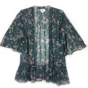 American Eagle Outfitters Ruffles Kimono Cover-Up